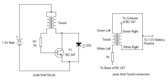 Joule Thief Circuit  Start Up Project 5