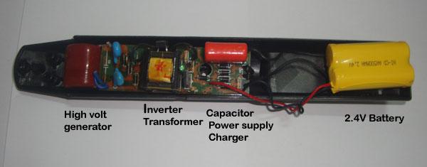Mosquito Racket Circuit Board - Pest Control Diagram