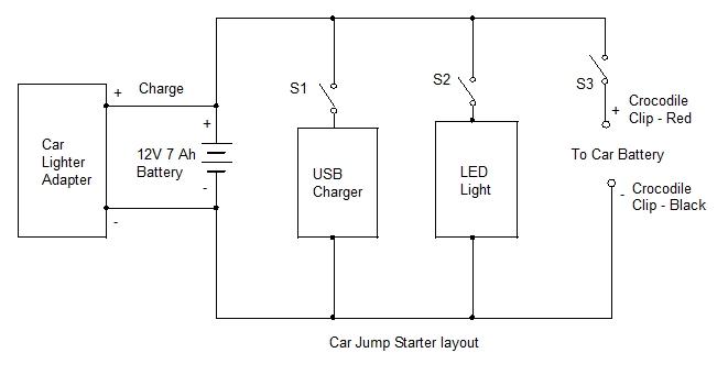 jump starter schematic wiring diagram detailedcar jump starter start up project 31 mohan\u0027s electronics blog jump starter wiring jump starter schematic