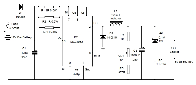 12v Usb Charger Wiring Diagram - All Diagram Schematics