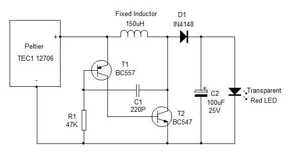 Peltier Electricity Circuit