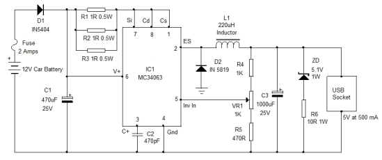 car-usb-charger-circuit