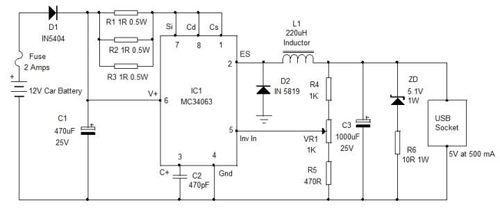 car-usb-charger-circuit