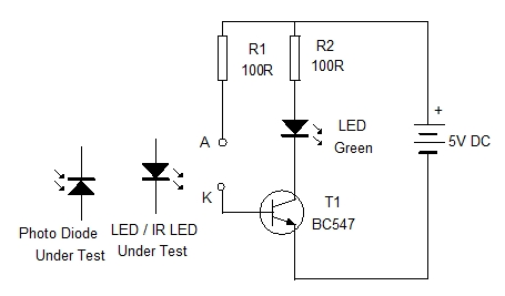 IR LED Tester. Application Circuit 2