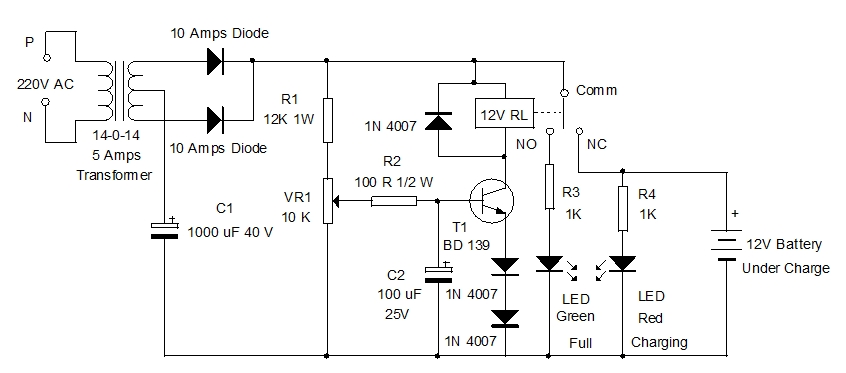 Automatic Battery Charger – Mohan's electronics blog on