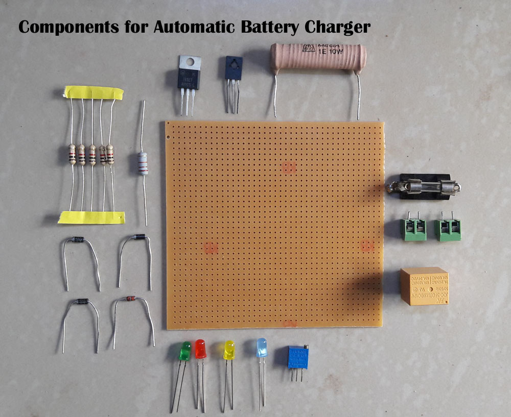 Car Battery Charger Circuit Diagram On Wiring Diagram For Led Tube