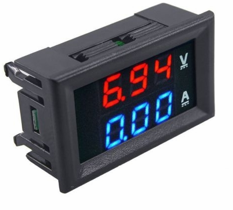 how to connect panel meter in battery charger \u2013 mohan\u0027s electronics blogone section of the meter displays 0 to 100 v dc and the second section displays current 0 to 10 amperes the meter works off 4 to 30 v dc